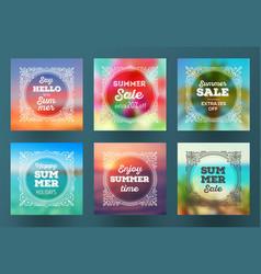 summer season sale designs vector image vector image