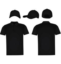 baseball cap and polo t shirt vector image