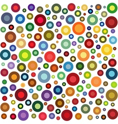 circle shape collection in multiple color on white vector image vector image