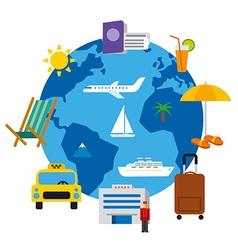 ravel around the world vector image vector image