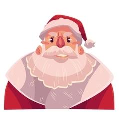 Santa claus face upset confused facial vector