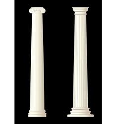 set of 2 columns vector image vector image