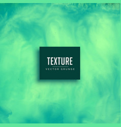 turquoise watercolor flowing ink texture vector image vector image