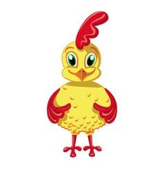Cheerful Cockerel vector image