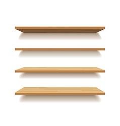 empty wooden shelf isolated background vector image vector image
