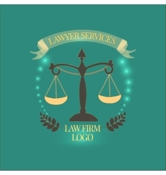 Law firm services gold vector image vector image