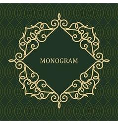 Line Frame for Monogram vector image