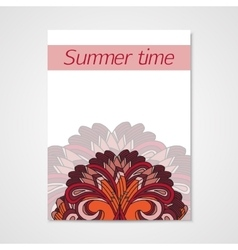 Poster whit hand drawn floral pattern vector image vector image
