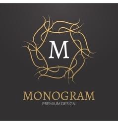 Stylish elegant monogram design logo vector image vector image