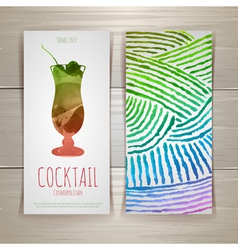 Watercolor decorative cocktail vector image