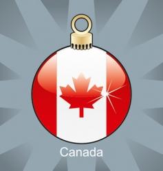 Canada flag in bulb vector