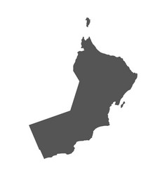 oman map black icon on white background vector image vector image