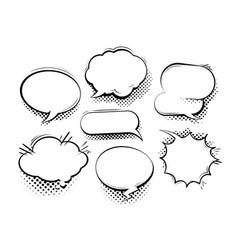 Set of comic speech bubbles cartoon vector