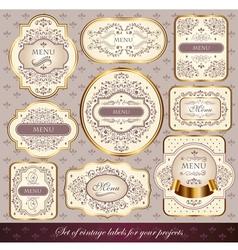 set of elegance labels vector image vector image