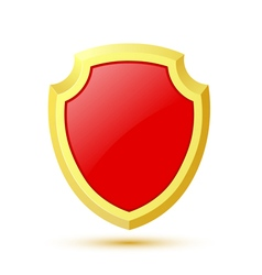 Single isolated on white background red shield vector image vector image
