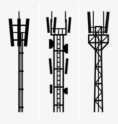 telecommunications towers vector image