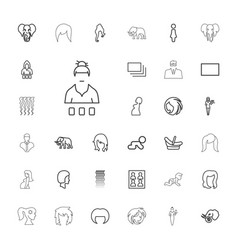 33 portrait icons vector