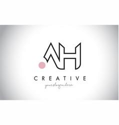 ah letter logo design with creative modern trendy vector image