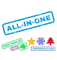 All-In-One Rubber Stamp vector