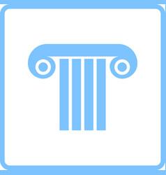 antique column icon vector image