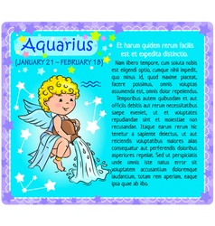 Aquarius Zodiac kid vector image