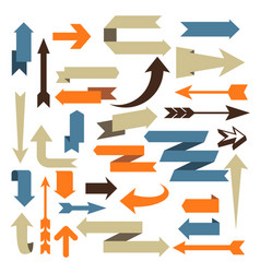 arrow set - set of arrow designs in different vector image