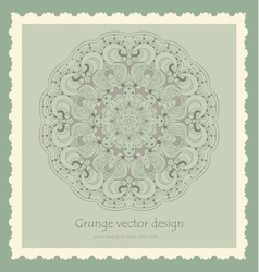 Beautiful vintage lace pattern background vector image