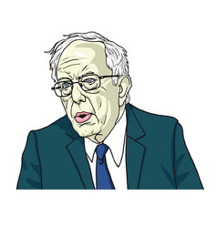 Bernie sanders portrait cartoon caricature vector