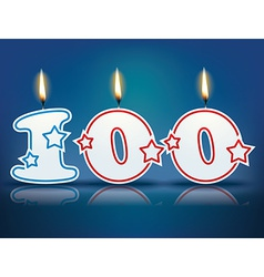 Birthday candle number 100 vector