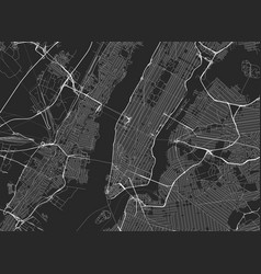 black map new york vector image