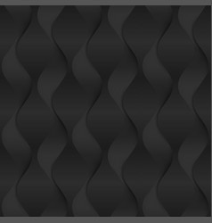 black seamless texture wavy background interior vector image