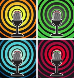 Broadcasting posters vector