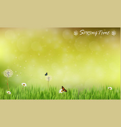 brown blur background of spring meadow vector image