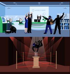 Burglar Flat Compositions vector image