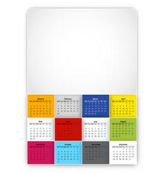 Calendar 2022 year vector