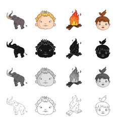 century history study and other web icon in vector image