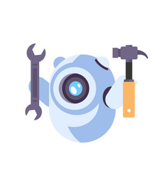Chat bot robot wrench service repair concept vector