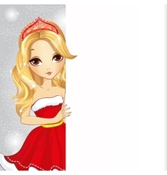 Christmas Blonde Girl With Diadem vector