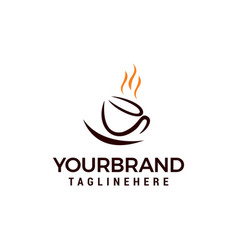 coffee cup logo template design vector image