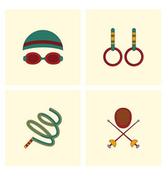 Collection of olympic game design vector