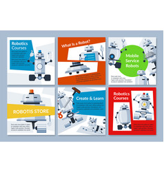 Collection robotics engineering programming vector
