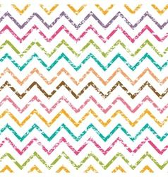 Colorful grunge chevron seamless pattern vector