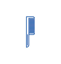 comb one line icon concept comb one flat vector image