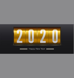 countdown to new year 2020 golden retro vector image