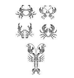 crab set vector image