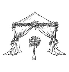 Decorative tent for a party or wedding vector