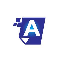 Digital paper initial a vector