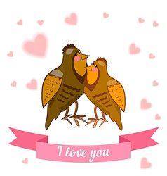 drawn by animal declaration of love vector image