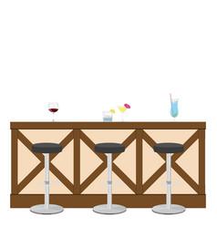 drinking establishment interior of pub cafe or bar vector image