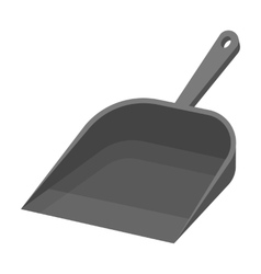 Dustpan icon in monochrome style isolated on white vector image